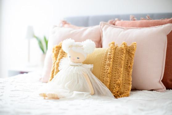 Ava Angel Doll 48cm Ivory Gold