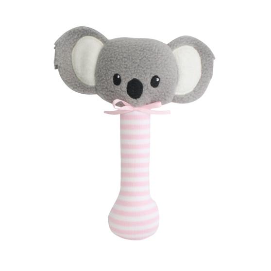 Baby Koala Stick Rattle Pink