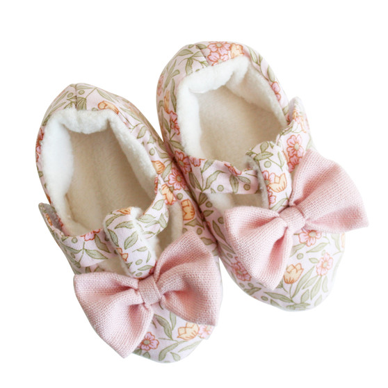 Bow Booties Blossom Lily Pink