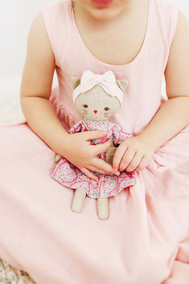 Mini Lilly Kitty 26cm Pink Floral