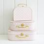 Kids Carry Case Set - Pink Gold