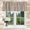 Country Check Tailored Valance in Camel
