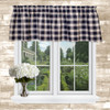 Country Check Tailored Valance in Navy