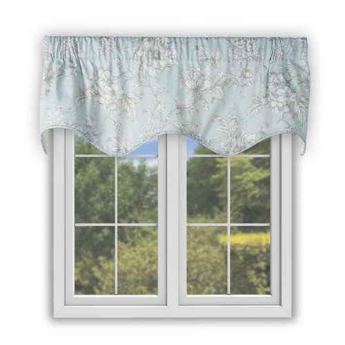 Aquarius Scallop Valance in Light Blue