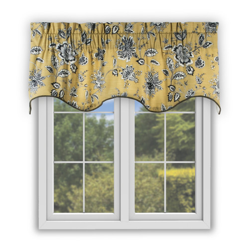 Jeanette Scallop Valance in Yellow
