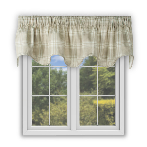 Bartlett Scallop Valance in Natural
