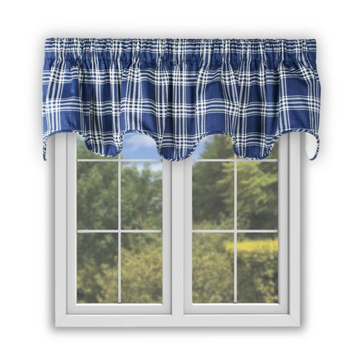 Bartlett Scallop Valance in Blue