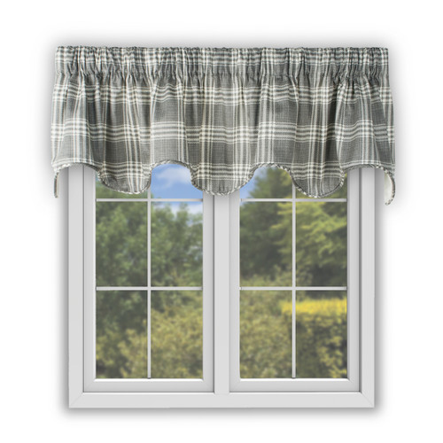 Bartlett Scallop Valance in Grey