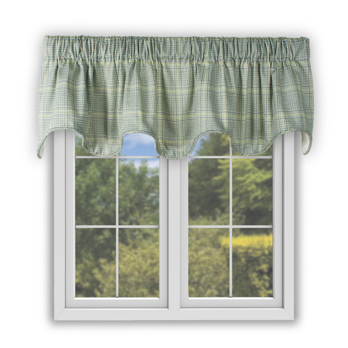 Harrington Scallop Valance in Lagoon