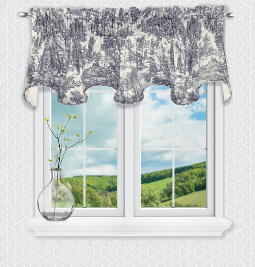 Victoria Park Scallop Valance in Blue
