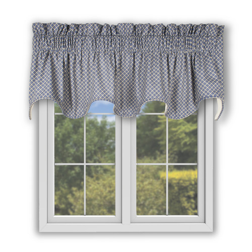 Tyvek Scallop Valance in Blue
