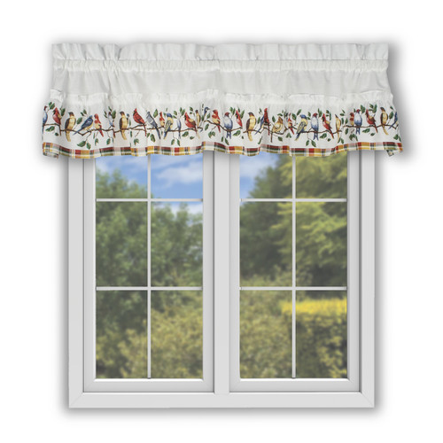 Singing Birds Filler Valance in Multi