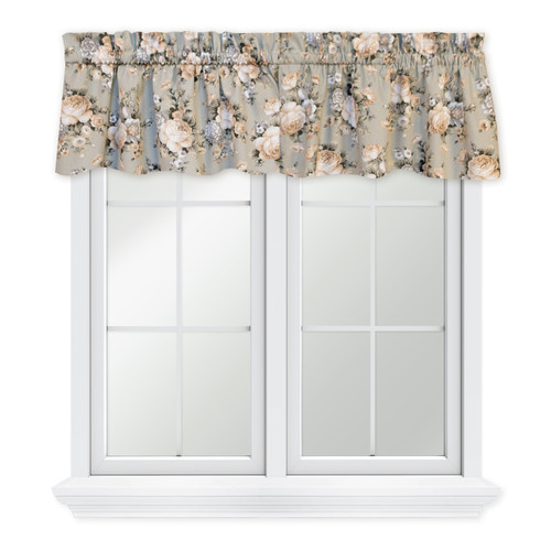 Bella Rose Tailored Valance in Mist