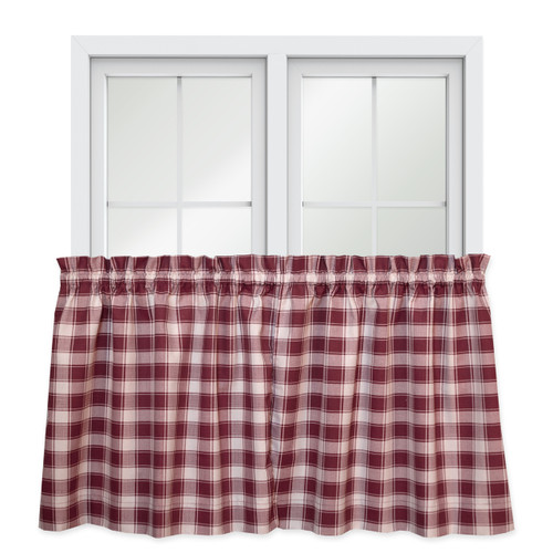 """Country Check Tailored Tier Pair - 36"""" Length in Brick"""