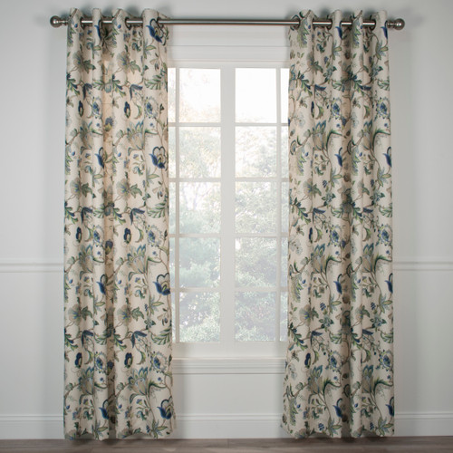 Brissac Lined Grommet Panel- Blue