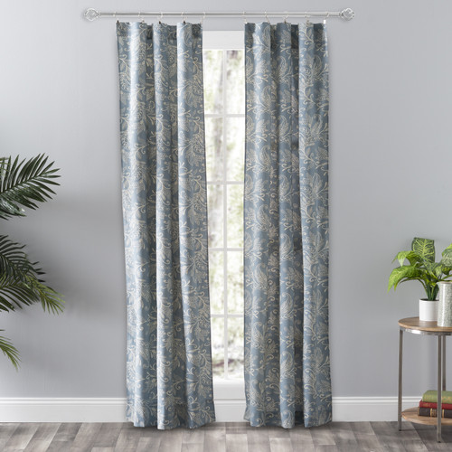 Lexington Leaf-Tailored Panel Pair in Blue