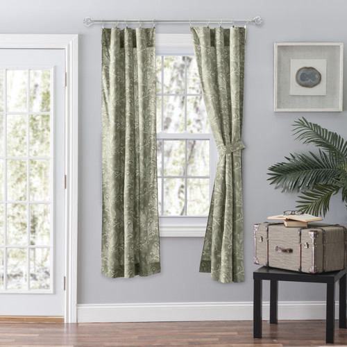 Lexington Leaf-Tailored Panel Pair in Sage