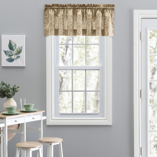 Lexington Leaf- Tailored Valance in Tan
