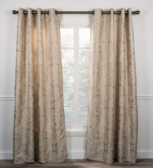 Meadow- Lined Grommet Panel- Linen