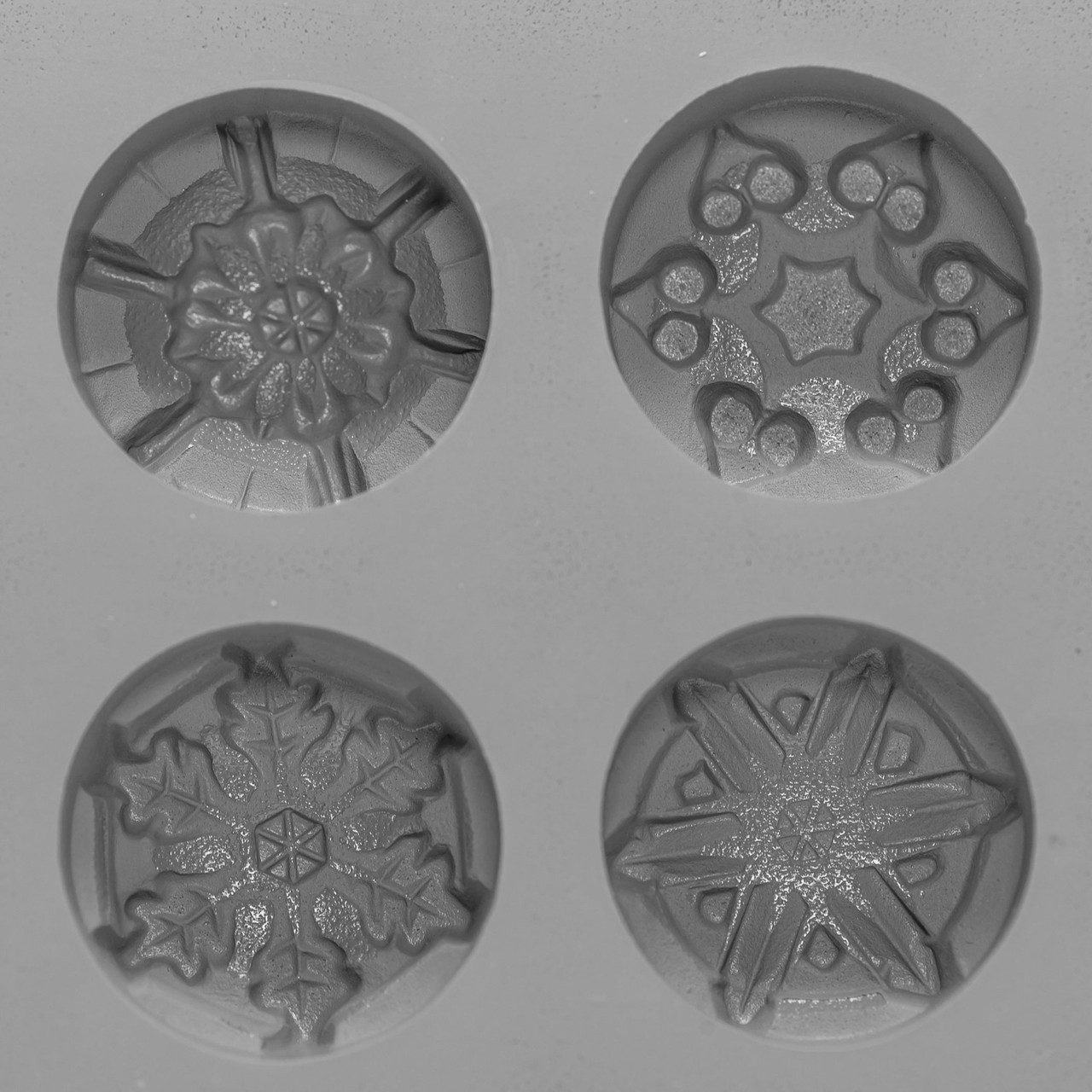 Rubber Snowflake Candy Mold