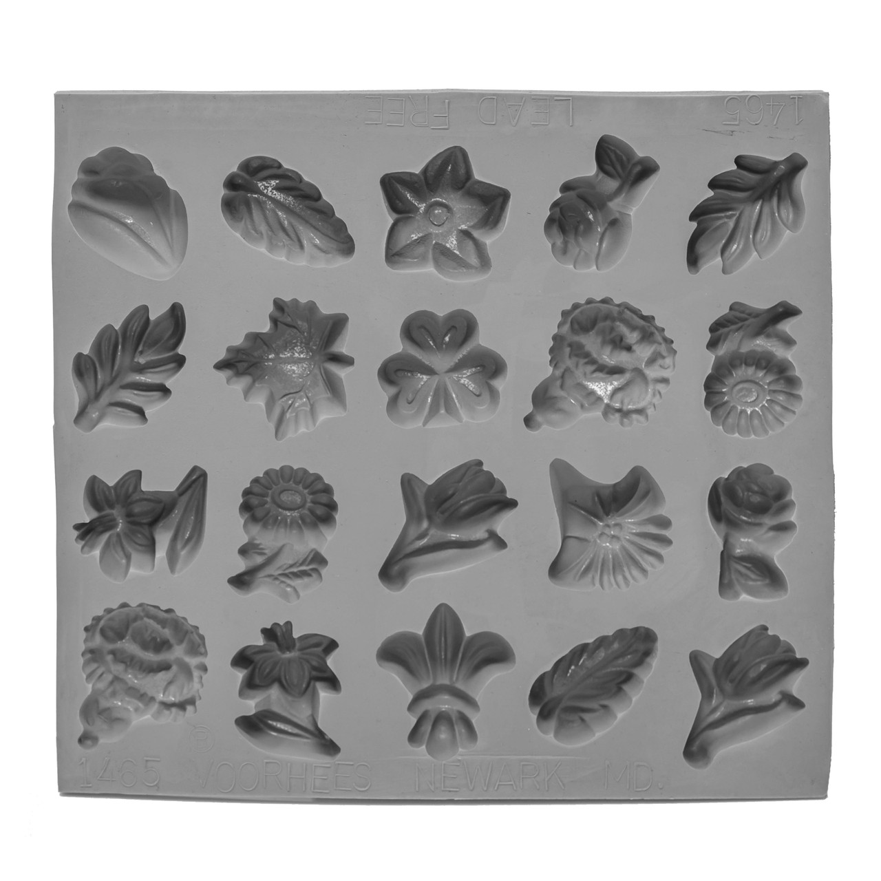 Rubber Flowers and Leaves Candy Mold