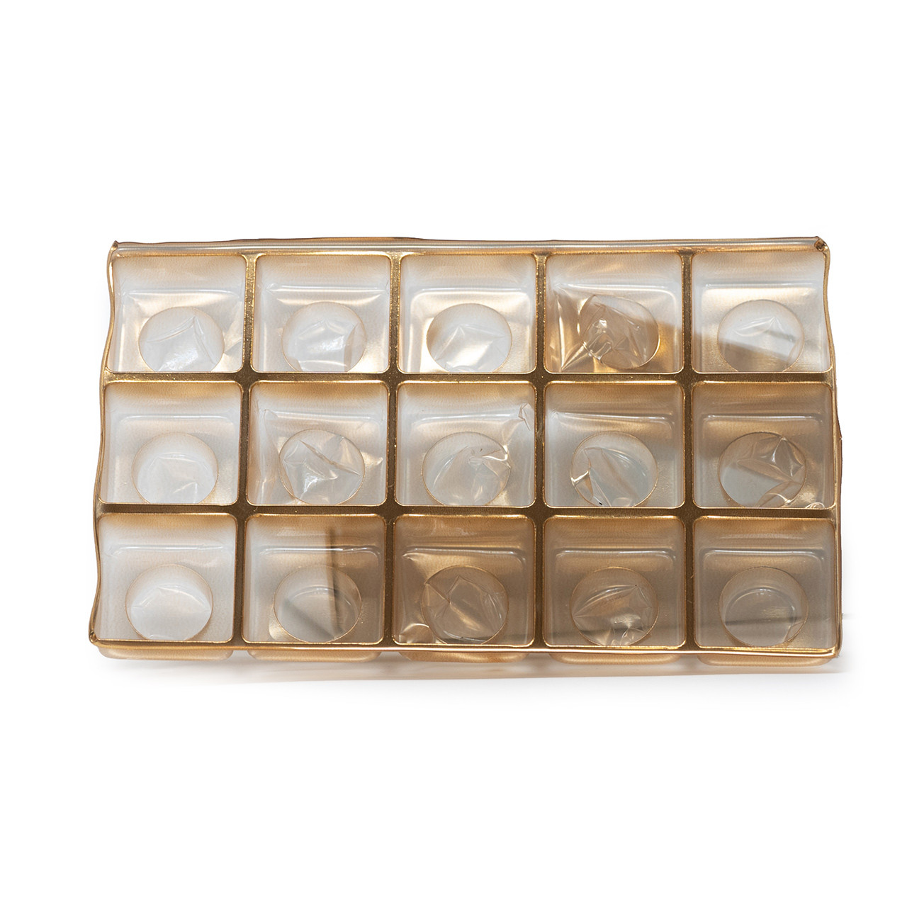 Candy box holds 15 pieces - tray