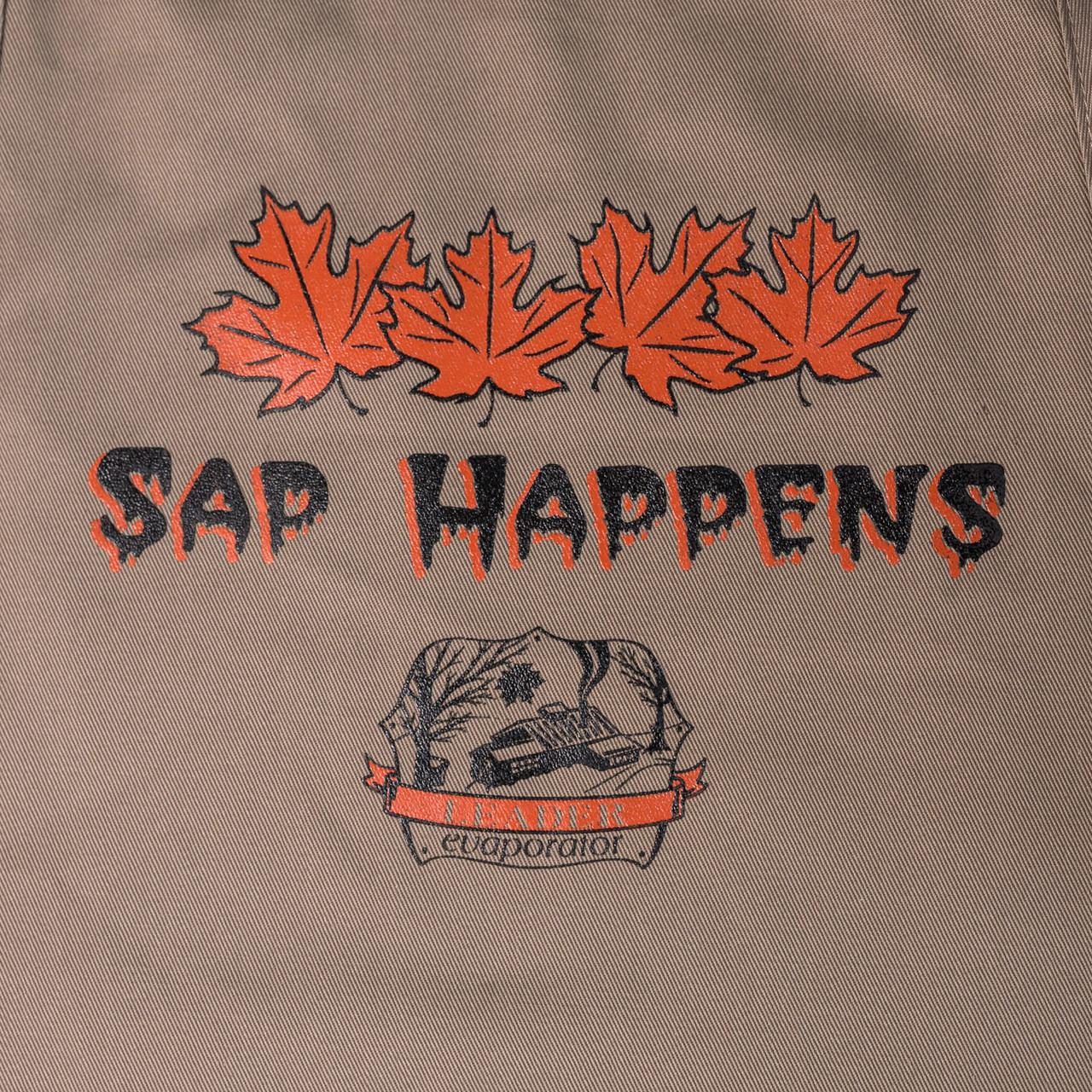 Sap Happens Apron Close-up