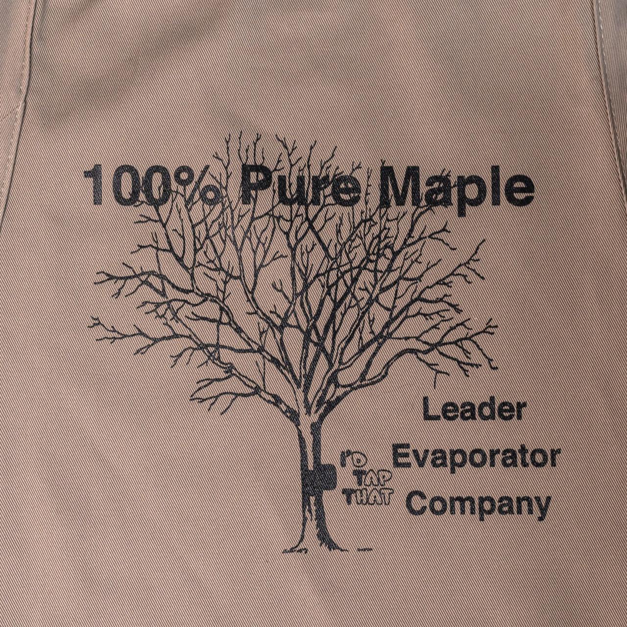 100% Maple Apron Close-up