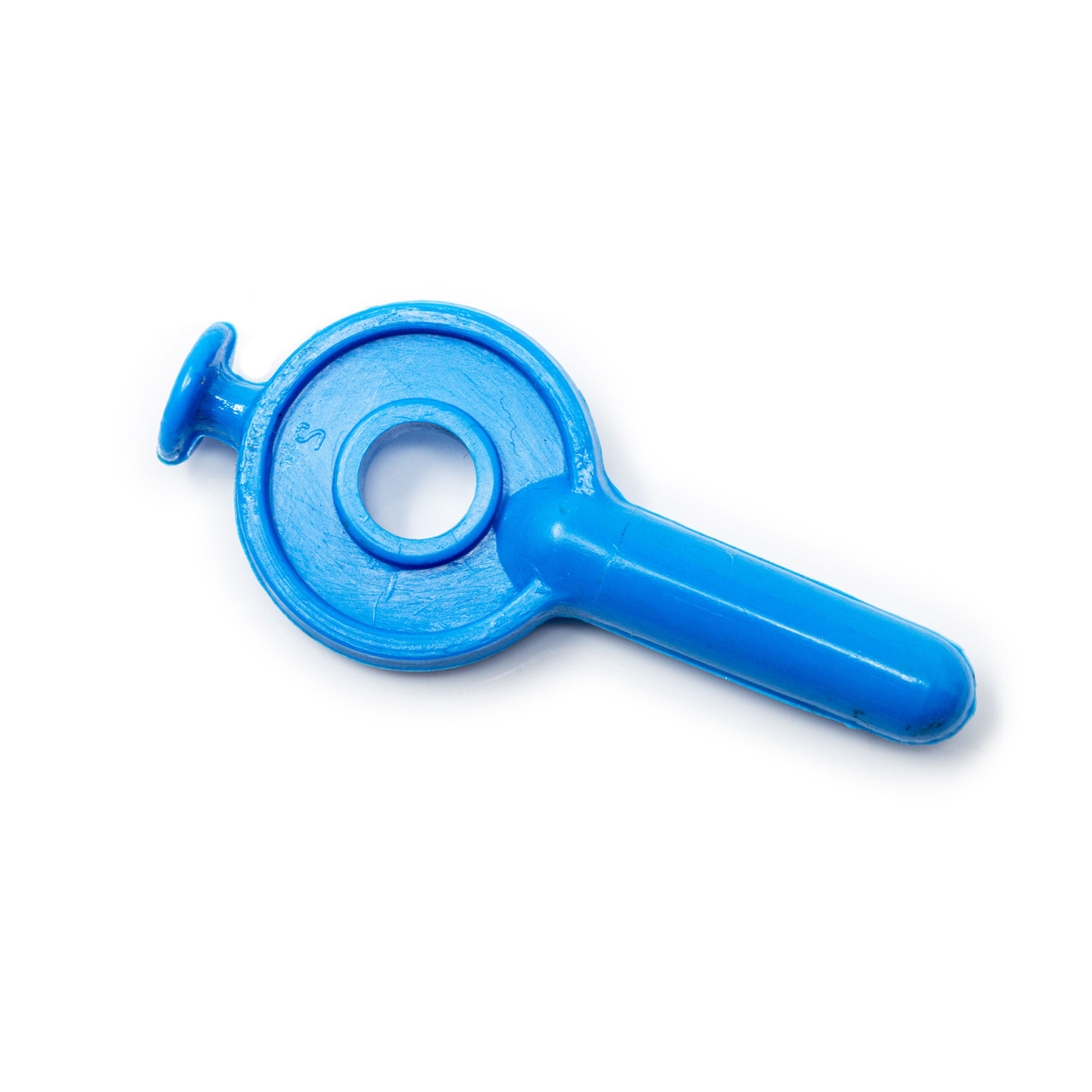 Key style spout plug for maple tubing system