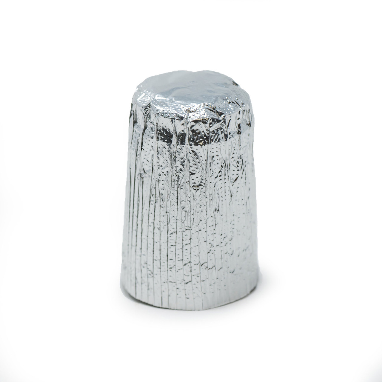 Silver foil top