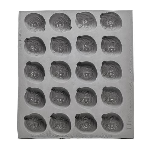 Rubber Jack-O-Lantern Candy Mold