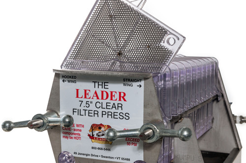 Clear Plastic Filter Press for Maple Syrup