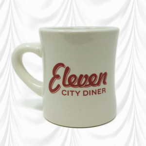 Eleven City Diner Mug Front With Eleven Logo Written Out