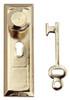 Dollhouse City - Dollhouse Miniatures Doorknob with Key Plate Set
