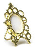 Dollhouse City - Dollhouse Miniatures Victorian Frame - Oval and Gold Plated