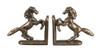 Horse Bookends - Antique Brass