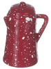 Coffee Pot - Red Spatter