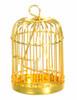 Dollhouse City - Dollhouse Miniatures Brass Birdcage with Bird