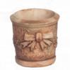 Dollhouse City - Dollhouse Miniatures Round Planter Set - Gray Ancient