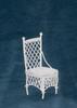 Dollhouse City - Dollhouse Miniatures Straight Chair - White Wire