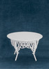 Dollhouse City - Dollhouse Miniatures Gathering Table - White Wire