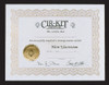 Dollhouse City - Dollhouse Miniatures Cirkit Electric Certificate