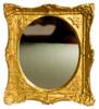 Dollhouse City - Dollhouse Miniatures Mirror - Gold