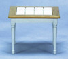 Dollhouse City - Dollhouse Miniatures Square Table - White and Oak