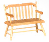 Dollhouse City - Dollhouse Miniatures Deacon's Bench - Oak