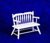 Dollhouse City - Dollhouse Miniatures Deacon's Bench - White