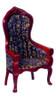 Dollhouse City - Dollhouse Miniatures Victorian Gent's Chair - White Brocade