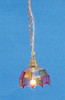 Dollhouse City - Dollhouse Miniatures Colored Tiffany Hanging Lamp
