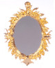 Dollhouse City - Dollhouse Miniatures Antique Mirror - Oval and Gold Plated