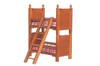 Bunk Beds with Ladder - Walnut